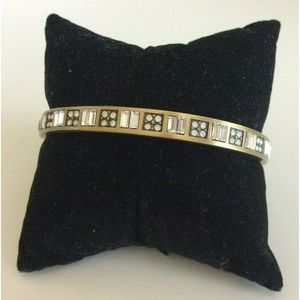 Silpada KR Swarovski Crystal Gold Bangle Bracelet